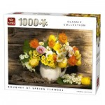 King-Puzzle-05646 Bouquet de Fleurs de Printemps