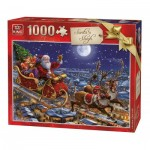King-Puzzle-05768 Christmas Santa Sleigh