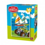 King-Puzzle-05775-C Funny Vehicles