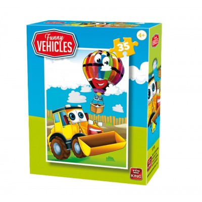 King-Puzzle-05775-D Funny Vehicles