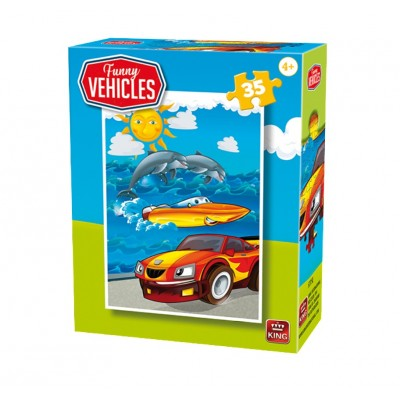 King-Puzzle-05775-E Funny Vehicles