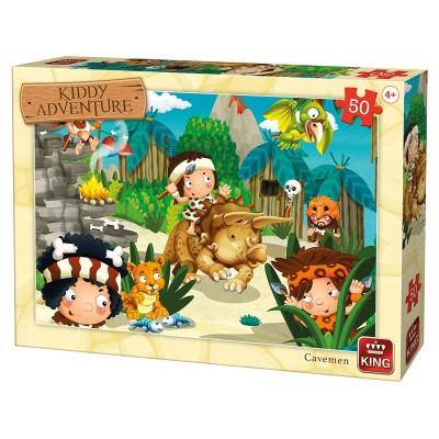 King-Puzzle-05792 Kiddy Adventure - Homme des Cavernes