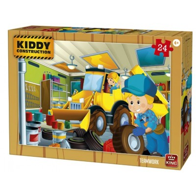 King-Puzzle-55835 Kiddy Construction - Teamwork