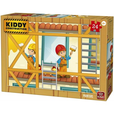 King-Puzzle-55836 Kiddy Construction - Painters