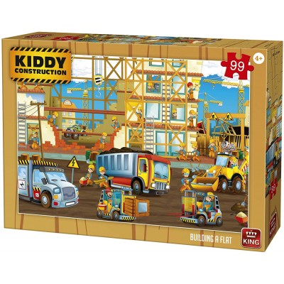 King-Puzzle-55837 Kiddy Construction - Building a Flat
