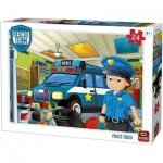 King-Puzzle-55838 Rescue Team - Police Truck