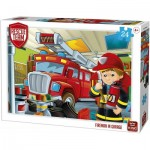 King-Puzzle-55839 Rescue Team - Fireman in Garage