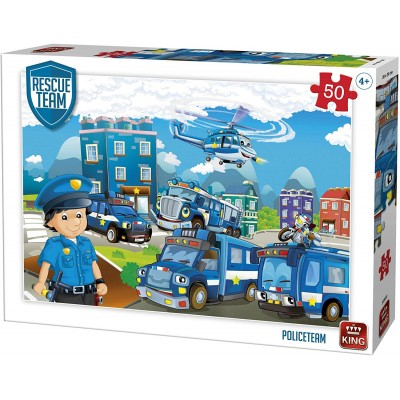 King-Puzzle-55840 Rescue Team - Police Team