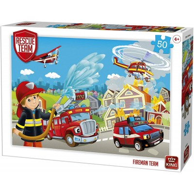 King-Puzzle-55841 Rescue Team - Fireman Team