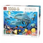 King-Puzzle-55845 Dolphin Family