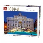 King-Puzzle-55852 Night View of Trevi Fountain Rome