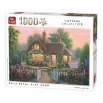 King-Puzzle-55860 Cottage Rose Petal Gift Shop