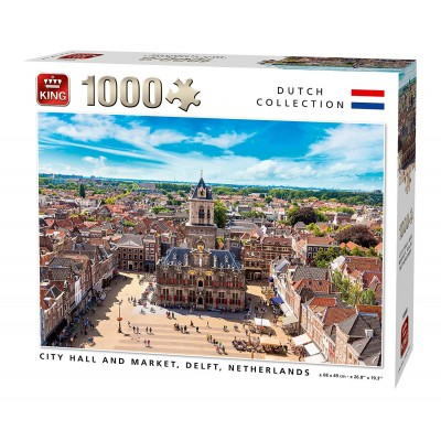 King-Puzzle-55869 City Hall and Market, Delft, Netherlands