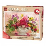 King-Puzzle-55879 Pièces XXL - Language of Flowers