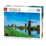 King-Puzzle-55885 Windmills Kinderdijk Netherlands