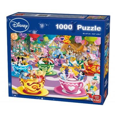 King-Puzzle-55887 Disney Mad Tea Cup