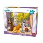 King-Puzzle-55910 Pièces XXL - La Belle et le Clochard
