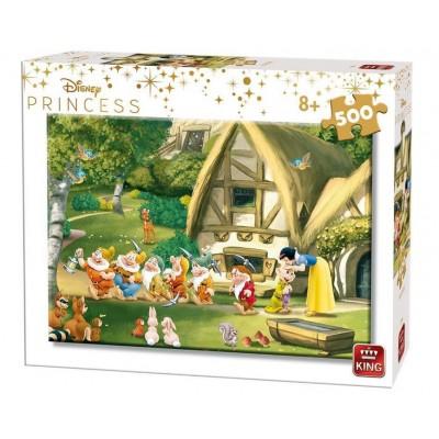 King-Puzzle-55916 Disney Princess - Blanche Neige et les 7 Nains