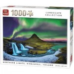 King-Puzzle-55938 Northern Lights, Kirkjufell, Iceland