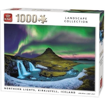 King-Puzzle-55938 Northern Lights, Kirkjufell, Iceland