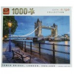 King-Puzzle-55939 City Collection at Night - Tower Bridge, London, England
