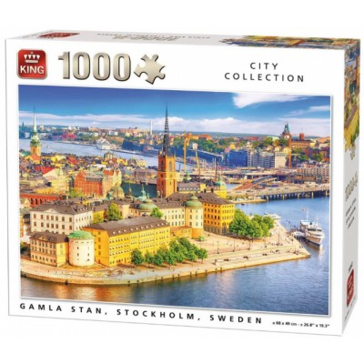 King-Puzzle-55952 City Collection - Gamla Stan, Stockholm, Suède