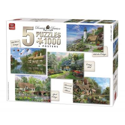 King-Puzzle-85514 5 Puzzles - Cottages