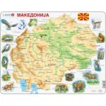 Larsen-A13 Puzzle Cadre - Carte de la Macédoine