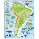 Larsen-A25-DE Puzzle Cadre - Carte de l'Amérique du Sud (en Allemand)