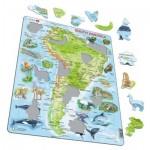 Larsen-A25-ES Puzzle Cadre - Amérique du Sud (en Espagnol)