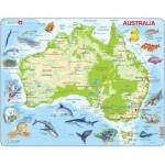 Larsen-A31-DE Puzzle Cadre - Carte de l'Australie (en Allemand)
