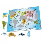 Larsen-A34-NL Puzzle Cadre - Animals of the World (en Hollandais)