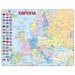 Larsen-A35-RU Puzzle Cadre - Carte de l'Europe en Russe