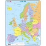 Larsen-A8-DE Puzzle Cadre - Carte de l'Europe en Allemand