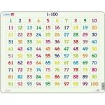 Larsen-AR10 Puzzle Cadre - Apprendre à Compter : Chiffres de 1 à 100