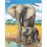 Larsen-D8 Puzzle Cadre - L'Eléphant