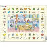 Larsen-EN1-GB Puzzle Cadre - Apprendre l'Anglais 1 : Dans la Cuisine (en Anglais)