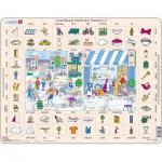Larsen-EN2-GB Puzzle Cadre - Apprendre l'Anglais 2 : Le Restaurant et la Ville (en Anglais)