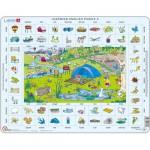 Larsen-EN4-GB Puzzle Cadre - Apprendre l'Anglais 4 : Les Vacances (en Anglais)