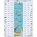 Larsen-EN8 Puzzle Cadre - Apprendre l'Anglais 8 : Le Port en Mots et en Verbes (en Anglais)