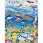 Larsen-FH20 Puzzle Cadre - Baleine, Requin et Fonds Marins