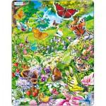 Larsen-FH28 Puzzle Cadre - Les Papillons