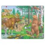 Larsen-FH36 Puzzle Cadre - Animaux de la Forêt