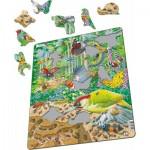 Larsen-FH46 Puzzle Cadre - La Vie Trépidante de la Forêt