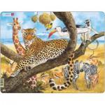 Larsen-FH8 Puzzle Cadre - Le Tigre et les Animaux de la Jungle