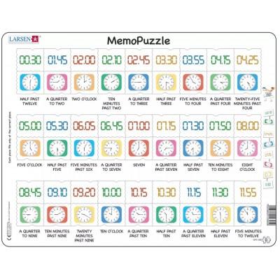 Larsen-GP5-GB Puzzle Cadre - MemoPuzzle (en Anglais)
