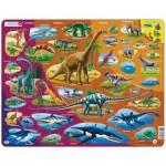 Larsen-HL1-ES Puzzle Cadre - Dinosaures (en Espagnol)