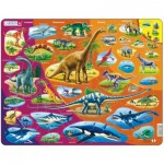 Larsen-HL1-GB Puzzle Cadre - Dinosaures (en Anglais)