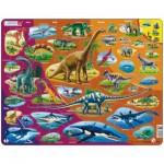 Larsen-HL1-NL Puzzle Cadre - Dinosaures (en Hollandais)