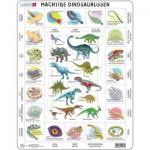 Larsen-HL9-NL Puzzle Cadre - Dinosaures (en Hollandais)